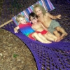 Kids in hammock.