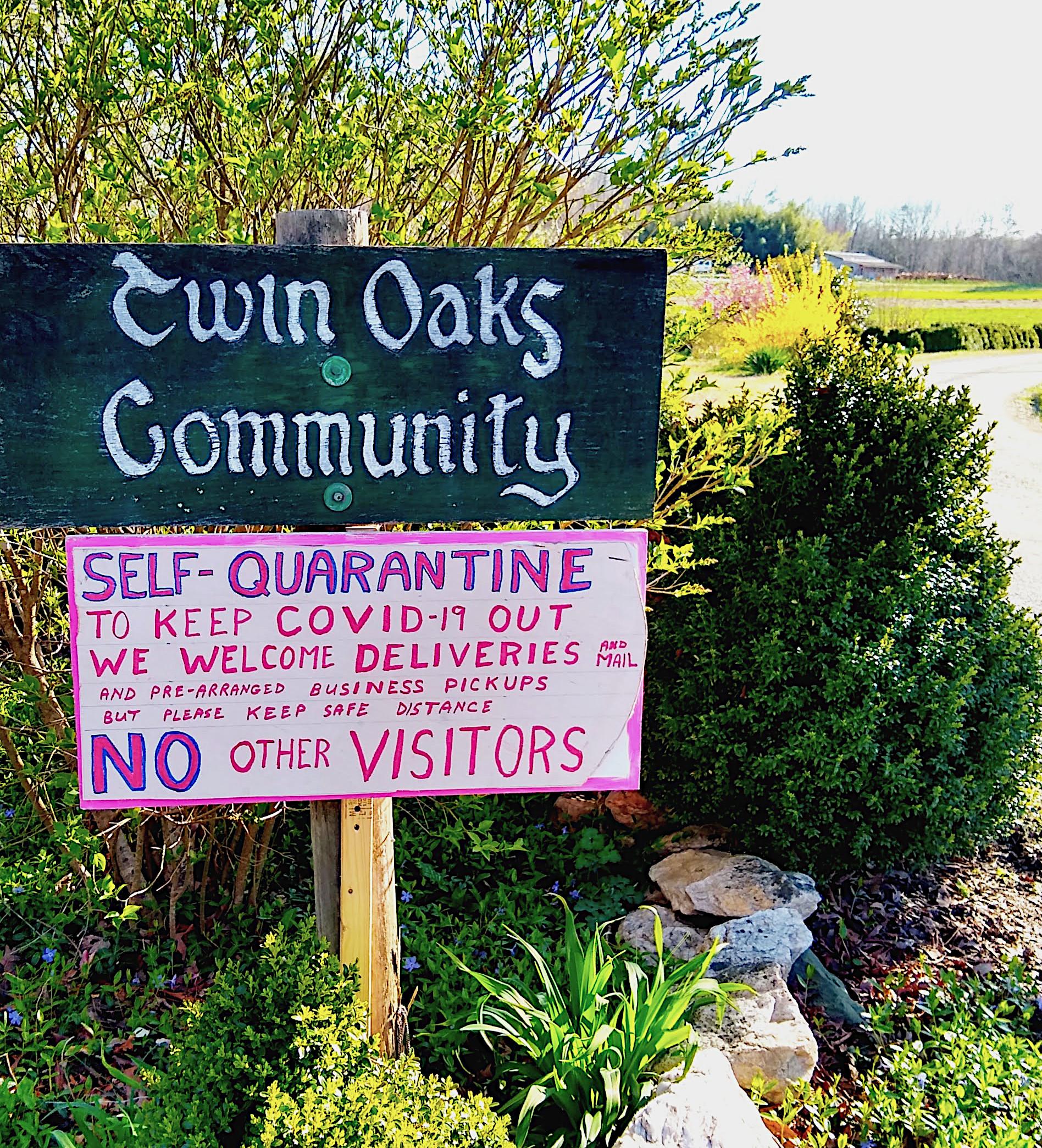 Twin Oaks quarantine